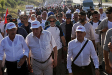 Adalet Yürüyüşü'nde 18'inci gün tamamlandı