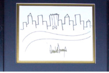 Trump'ın New York silüeti çizimi 9 bin dolar