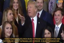 Trump'tan gazetecilere tepki