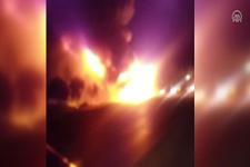 Denizli'de TIR ile çarpışan LPG tankeri patladı ölü ve yaralılar var