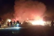LPG tankeri tır ile çarpıştı Denizli'de hava aydınlatan korkunç kaza