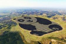 Çin'de panda biçimde GES büyük ilgi topladı