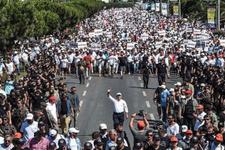 Kılıçdaroğlu'nun miting alanına yürüyüşü başladı