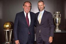 Yıldırım Demirören'den UEFA Başkanına ziyaret