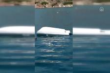 Marmaris açıklarında tur teknesi battı