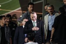 Erdoğan Başakşehir'i tribünden izledi
