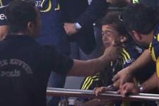 Vardar maçında ağlayan taraftara polisten teselli