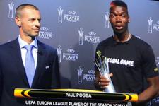 UEFA Avrupa Ligi'nden Pogba'ya ödül