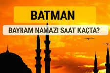 Batman Kurban bayramı namazı saati - 2017