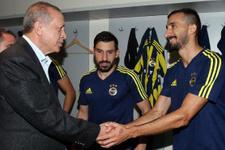 Erdoğan'dan Fenerbahçe soyunma odasına ziyaret