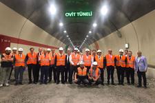 Bakan Arslan Ovit Tüneli'ni teftiş etti dünyanın en uzun tüneli