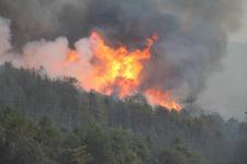 Kütahya'da orman yangını felaket havadan böyle görüntülendi