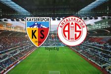 Kayserispor-Antalyaspor maçı saat kaçta hangi kanalda?
