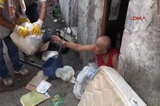 Evden 1 kamyon çöp çıkarıldı