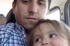 Minik Nisa'nın kazada ölmeden önceki görüntüleri yürek burktu