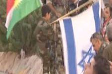 Erbil'de referandum etkinliğinde İsrail bayrağı
