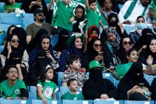 Suudi Arabistanlı kadınların stadyum mutluluğu