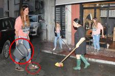 Ünlü oyuncudan Bergüzar Korel'e temizlik yardımı