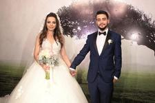 Yılın ikinci düğünü Rüzgar Erkoçlar ile Tuğba Beyazoğlu evlendi
