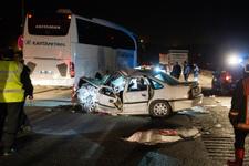 Başkentte trafik kazası: 1 ölü, 5 yaralı