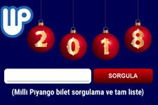 Milli Piyango 2018 yılbaşı tam liste ve bilet sorgulama