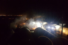 Polis ve askerlerin kaldığı çadır kentte yangın