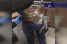 Vücuduna 2 kilo 800 gram esrar sarılı kadın yolcu gözaltına alındı