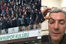 Konyaspor'un eski yöneticisi Mehmet Soylu'ya tribünde saldırı