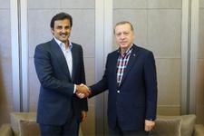 Cumhurbaşkanı Erdoğan Katar Emiri'yle görüştü