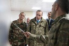 Erdoğan askeri kamuflajla sınırdan bu görüntüyü verdi