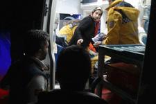 Kardan yol kapandı hasta çocuğa 3 saat sonra ulaşıldı