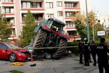 TBMM önünde silahlar patladı! Durmayan traktöre ateş açıldı