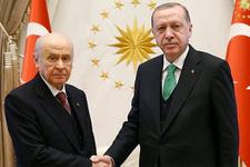 Erdoğan ve Bahçeli görüşmesi sona erdi ittifak var mı?