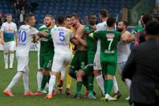 Rize'de saha karıştı: Maç bitti kartlar devam etti!