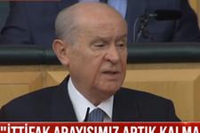 MHP- AK Parti ittifakı bitti Devlet Bahçeli şoke eden kararını duyurdu