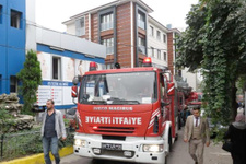 Pendik'te özel hastanede yangın