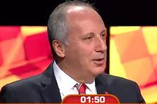 Muharrem İnce'ye 'Erdoğan'a hayran mısınız' diye soruldu!