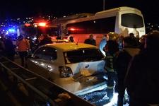 TEM'de 10 araç birbirine girdi: Çok sayıda yaralı var!