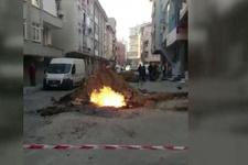 Bağcılar'da doğal gaz borusu patladı
