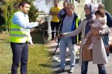 Erdoğan'ın kızı Sümeyye Bayraktar Erdoğan kameralar önünde eşini ıslattı