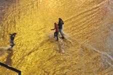 Sağanak yağış Denizli'de hayatı felç etti