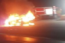 Kesilen cezaya kızdı otomobilini böyle yaktı!