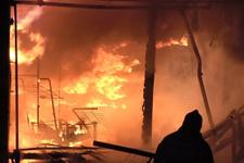 Bursa'da iş yerinde patlama ve yangın