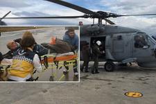 Ada'da kurtarma operasyonu: Böyle havalandı!