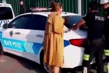 Trafik cezası kesilen öğretmen çığlık atınca...Lan bağırma hanımefendi