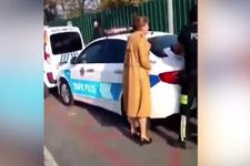 Trafik cezası kesilen kadının çığlıkları