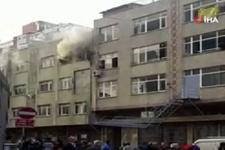 Sultangazi'de ayakkabı fabrikasında yangın