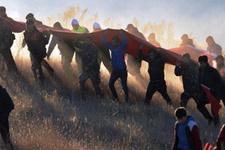 Erzurum'da 10 bin kişi Aziziye Tabyaları'na yürüdü