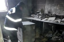 Tüpü çakmakla kontrol etti yangın çıktı