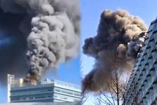 Google'ın Çin'deki ofisinde korkutan yangın